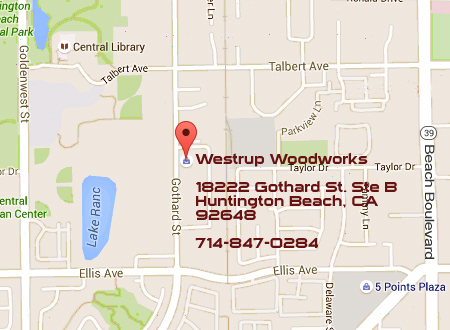Westrup Woodworks map